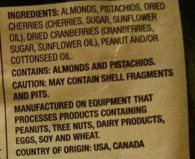 Premium trail mix - Ingredients - en