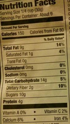 Premium trail mix - Nutrition facts - en