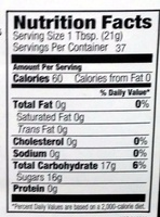 100% Pure Honey - Nutrition facts - en