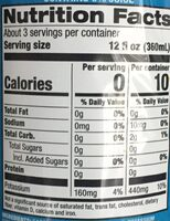 Flavored sparkling water, raspberry - Nutrition facts - en