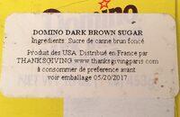 Dark Brown Sugar - Ingredients - en