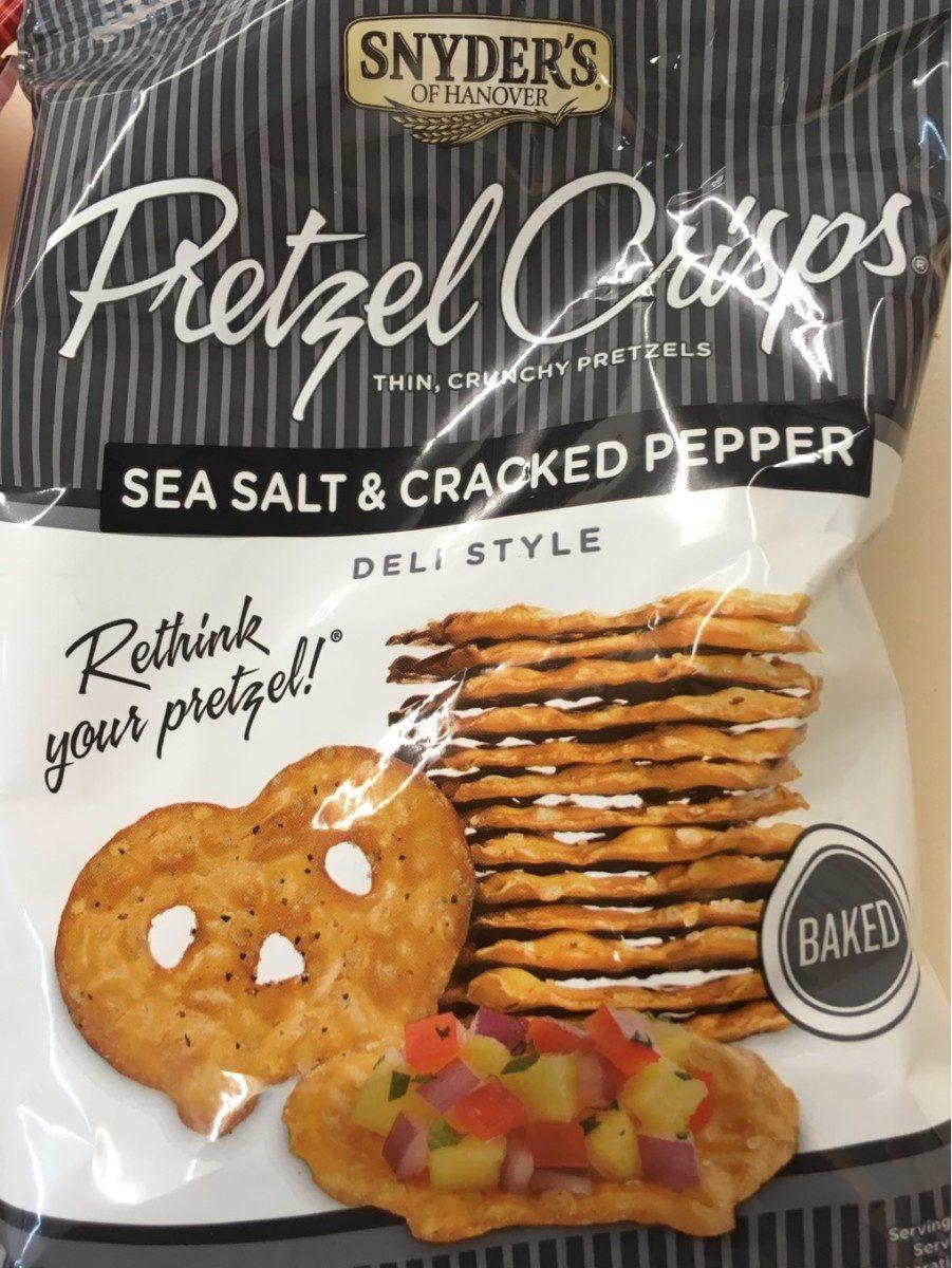 Snyder's Pretzel Crisps Sea Salt & Cracked Pepper - Produit - fr