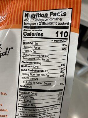 Buffalo wing thin, crunchy pretzel crackers - Nutrition facts - en