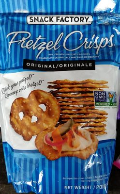 Snack factory pretzel crisps crackers original - Produit - en