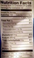 snack factory pretzel crisps - Nutrition facts