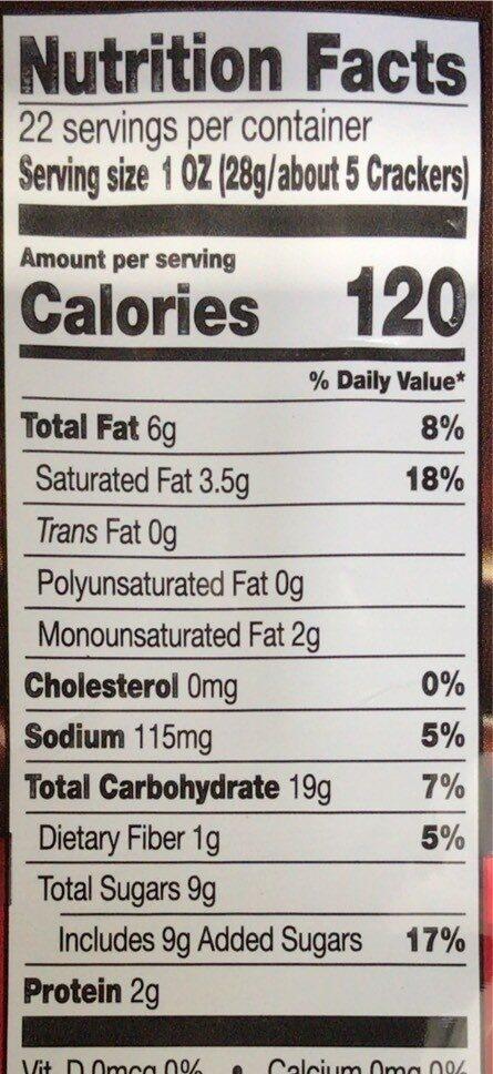 Pretzel crisps - Nutrition facts - en