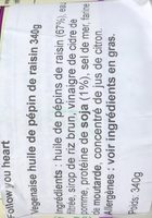 Vegenaise grapeseed oil - Ingredients - fr