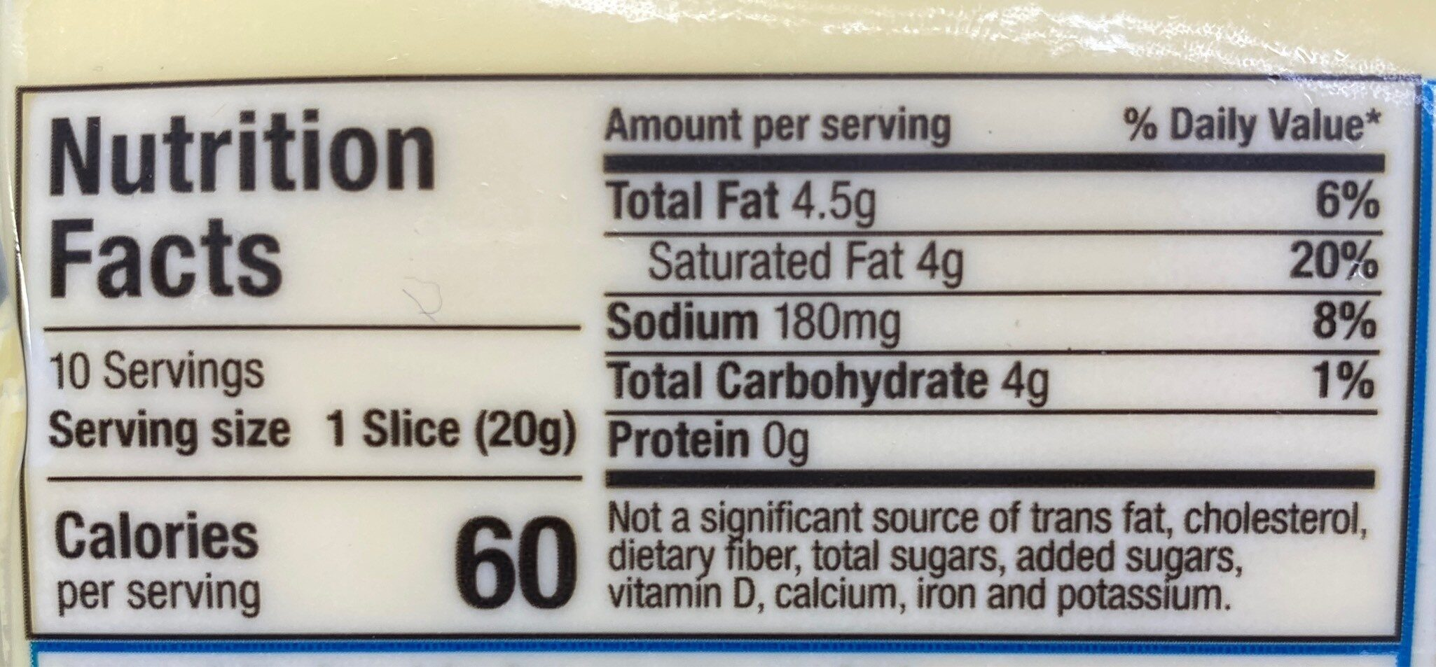 Dairy-free provolone - Nutrition facts - en