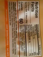 American style slices cheese alternative, american style - Nutrition facts - en