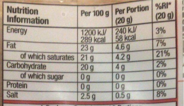 MEDIUM CHEDDAR STYLE - Nutrition facts - en