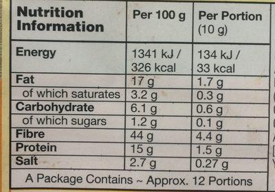 Veganegg - Informations nutritionnelles