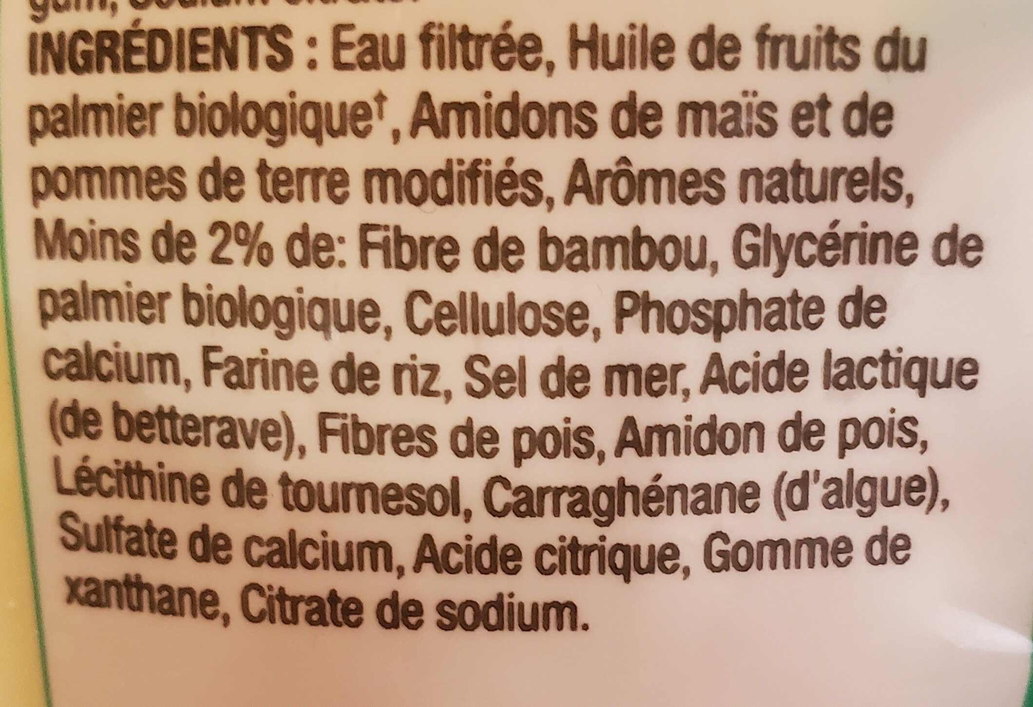 Mozzarella Shreds Dairy-Free - Ingredients - fr