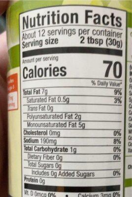 Vegan Caesar Salad Dressing - Nutrition facts - en