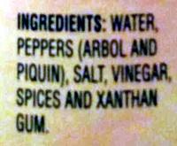 Cholula Hot Sauce Original - Ingredients
