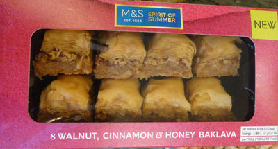 8 Walnut, Cinnamon & Honey Baklava - Product