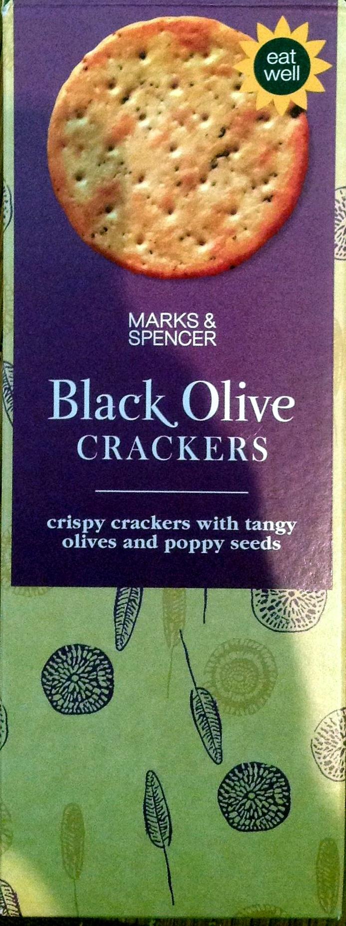 Black Olive crackers - Produit