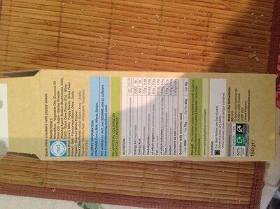 Black Olive crackers - Informations nutritionnelles