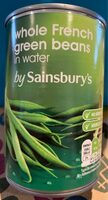 Whole green beans in water - Product