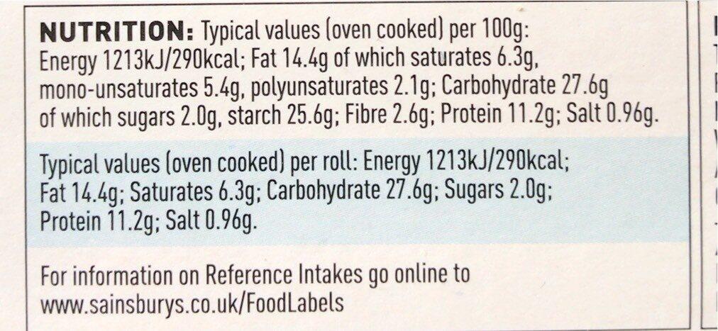 4 No sausage rolls - Nutrition facts - en