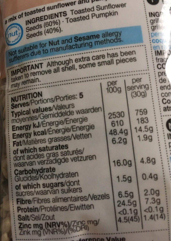 Toasted Pumpkin & Sunflower Medley - Nutrition facts - en