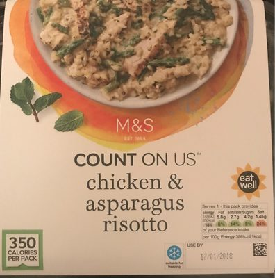 Chargrilled chicken & asparagus risotto - Product - fr