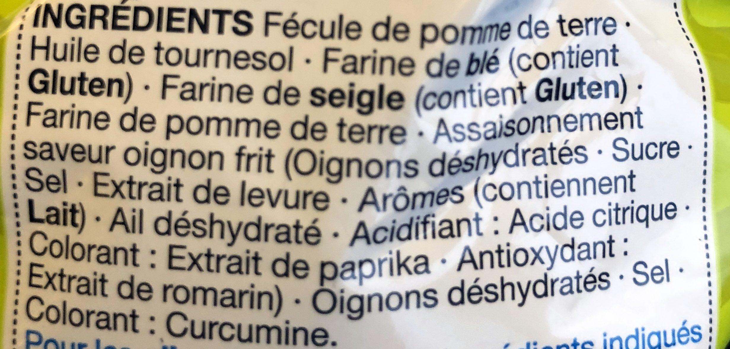 Onion Rings - Ingredients