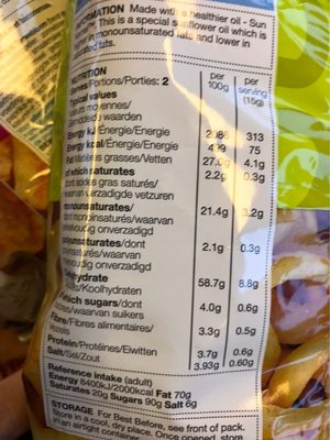 Onion Rings - Nutrition facts