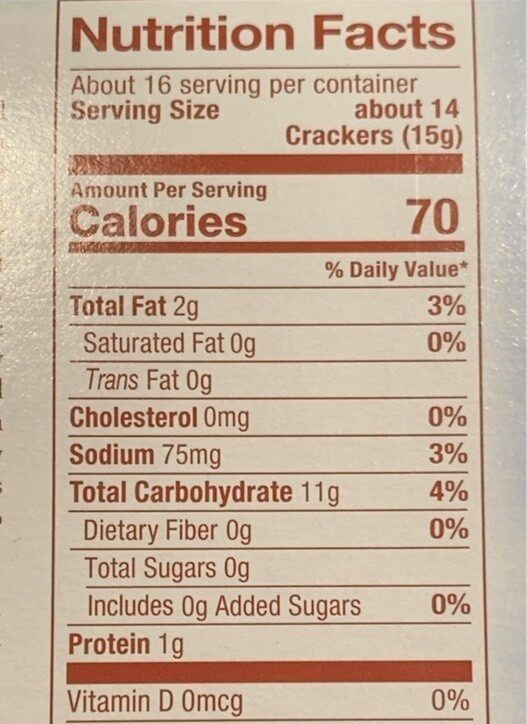 Soup and oyster crackers - Nutrition facts - en