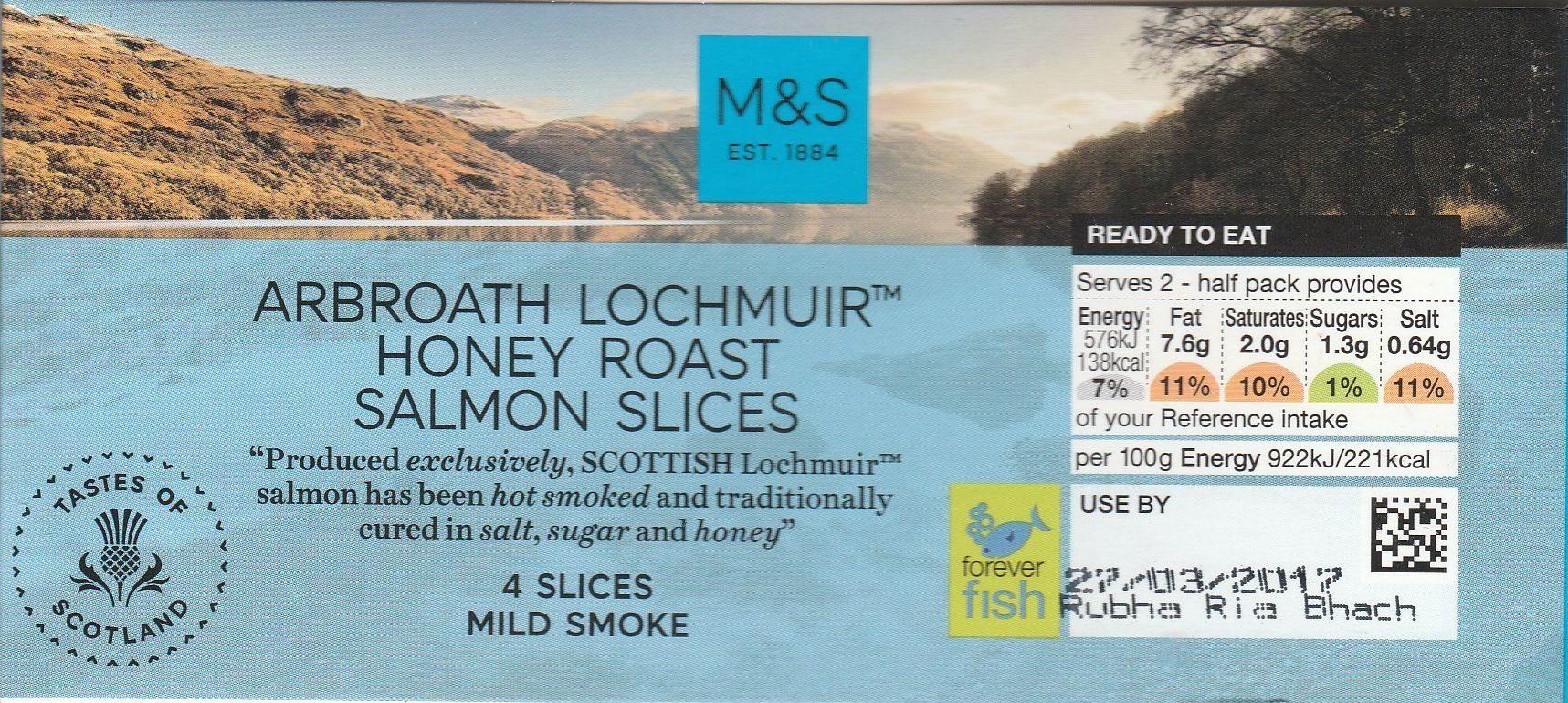 Arbroath Lochmuir Honey Roast Salmon Slices - Product - fr