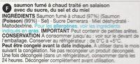 Arbroath Lochmuir Honey Roast Salmon Slices - Ingrediënten - fr