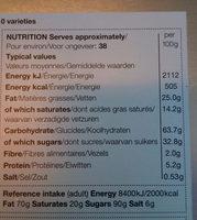 sélection des biscuits - Voedingswaarden - fr