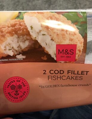 Cod fillet fishcakes - Produit - en