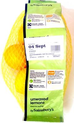 Unwaxed lemons - Product - en