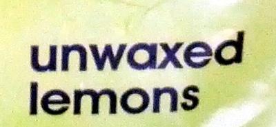 Unwaxed lemons - Ingrediënten - en
