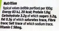 Unwaxed lemons - Voedingswaarden - en