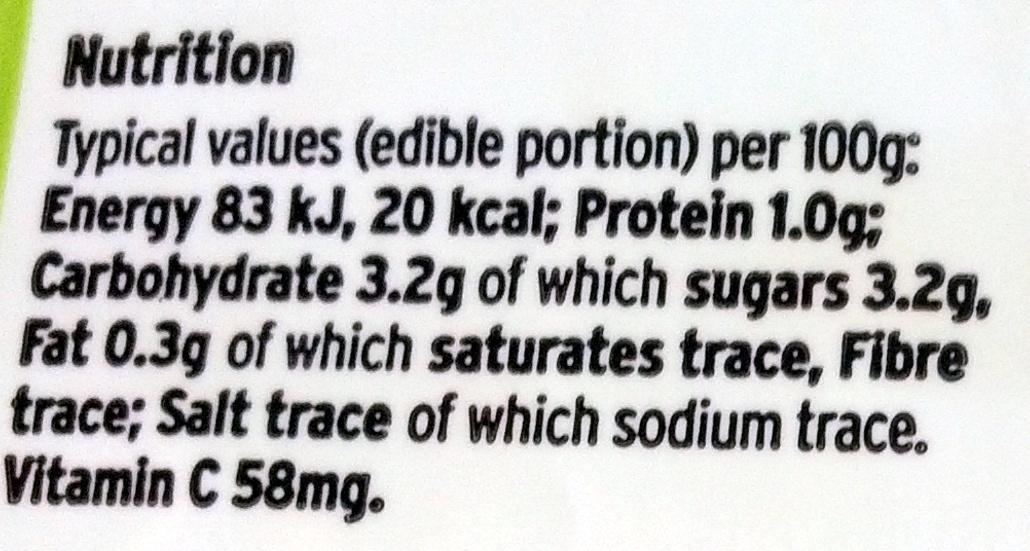 Unwaxed lemons - Informations nutritionnelles - en