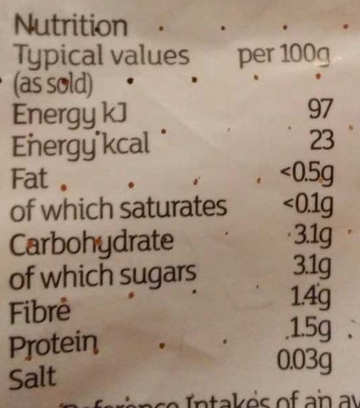 Shallots - Nutrition facts - en