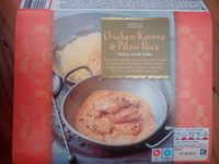 Chicken korma and pilau rice - Product - fr