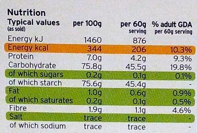 Italian Arborio Risotto Rice - Nutrition facts