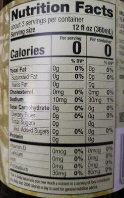 Green Tea - Unsweetened - Nutrition facts - en