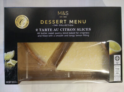 2 tart au citron slices - Product