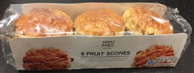 6 scones aux raisins de Smyrne - Product