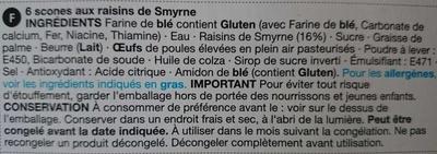 6 scones aux raisins de Smyrne - Ingredients