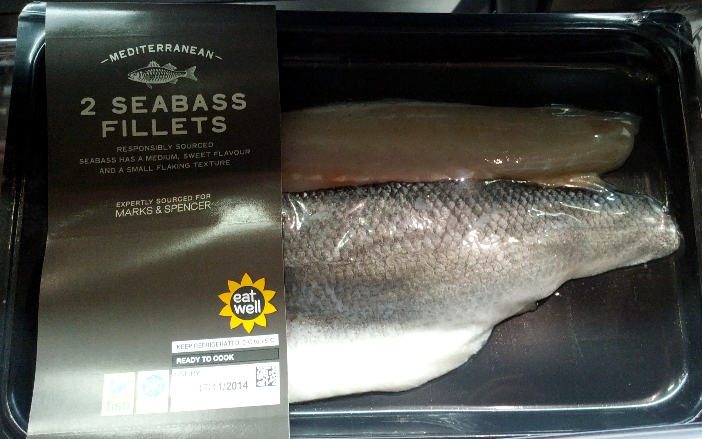 2 Mediterranean Seabass Fillets - Product - en