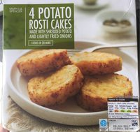 4 Potato Rosti Cakes - Product - fr