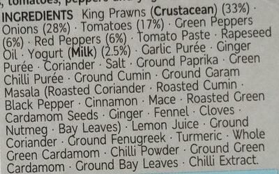 King prawn bhuna - Ingredients - en