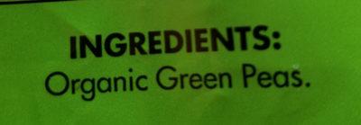 Organic Peas - Ingredients