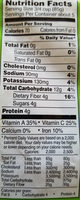 Organic Peas - Nutrition facts