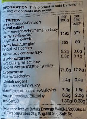 Chips au sel de mer et au vinaigre - Nutrition facts - en