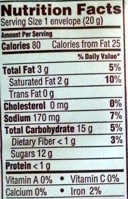 Rich Choclate Flavor Hot Cocoa Mix - Nutrition facts